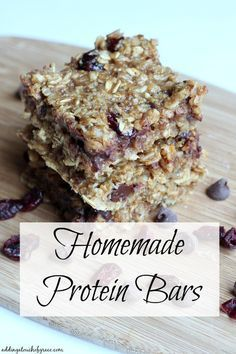 These Homemade Protein Bars are gooey and delicious and don't taste at all like a protein bar.