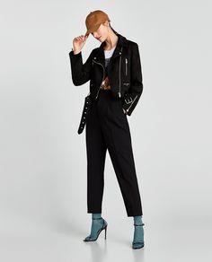 Sandália com meia, Inverno Zara Faux Suede Biker Jacket, Zara New, Zara Women, Jackets For Women, Normcore, Poses, Outfits, Shopping, Clothes