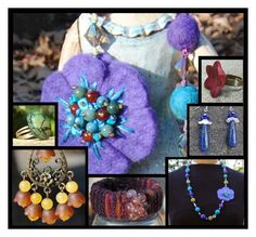 Upcycled Handmade Jewelry Christmas Sale by rescuedofferings on Polyvore featuring integrityTT, EtsySpecialT and EtsyTeamUnity