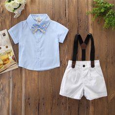 Kids Tales 1Set Little Girls Short Top Clothes+Jeans Pants Shorts Suit Outfit