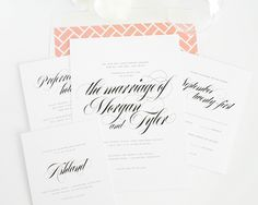 Calligraphy Names Wedding Invitations - Wedding Invitations by Shine