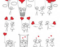 Thank you for viewing our digital paper collection! We offer a large variety of … Thank you for viewing our digital paper collection! We offer a large variety of scrapbooking artwork, digital paper for scrapbooking, stationery, Doodle Drawings, Easy Drawings, Doodle Art, Heart Doodle, Cartoon Drawings, Ballons Saint Valentin, Couple Clipart, Wedding Day Cards, Wedding Gifts