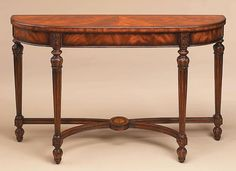Maitland-Smith Demilune Console Table