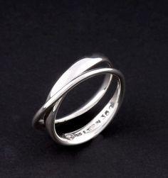 Georg Jensen Sterling Silver Möbius Ring # 369. Vivianna Torun. New #GeorgJensen
