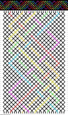 Rainbow LGBT Pride Friendship Bracelet Pattern