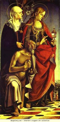 Luca Signorelli. SS. Catherine of Siena, Mary Magdalene and Jerome.