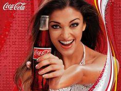 Aishwarya Rai Gorgeous Lady with Coca Cola