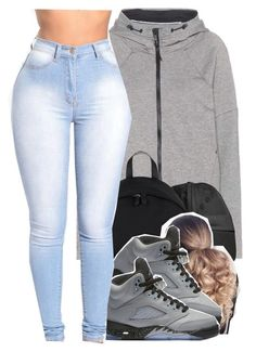 """""""409"""" by xbad-gyalx ❤ liked on Polyvore featuring NIKE and Givenchy"""