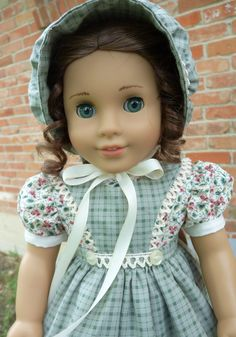 18 Doll Clothes Pretty Pioneer / Prairie Dress by Designed4Dolls
