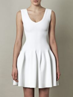 Alaia White Dresses shaped white mini dress