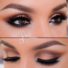 Make up, brown eyes. See more interesting ideas on http://pinmakeuptips.com/simple-trick-with-a-business-card/