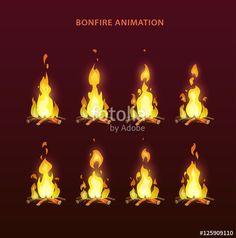 Vector: Bonfire animation sprites