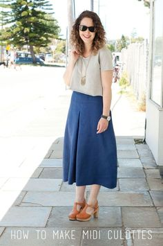 Culottes Sewing Tutorial - More projects for making your own clothes at www.sewinlove.