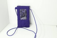 ID phone case in Royal Blue with silver print lining by JoyInTheBag on Etsy