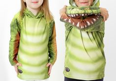 Mouthman Gator Chomp Hoodie Shirt - for Kids and Adults $31.99 and up