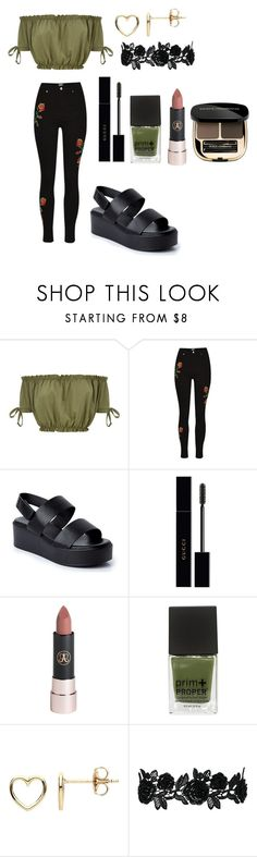 """""""walking in green"""" by xitch ❤ liked on Polyvore featuring Gucci, Anastasia Beverly Hills, Estella Bartlett and Dolce&Gabbana"""