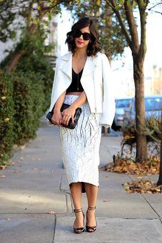 Top: Zara (old, similar style here); Skirt: Balenciaga (on major sale!); Shoes: Konstantina Tzovolou; Sunglasses: Celine; Bag: Proenza …