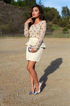 peplum skirt <3