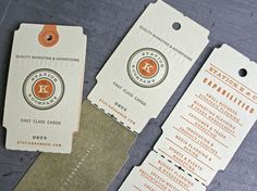 retro business cards. letterpressed.