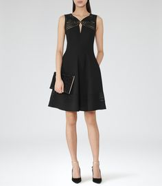 Vera Wang Dress - Sequin Lace Fit and Flare Women - Dresses - Bloomingdale's Nice Dresses, Short Dresses, Reiss Dresses, Vera Wang Dress, Sequin Dress, Fit And Flare, Trendy Outfits, Fashion Dresses, Dress Up