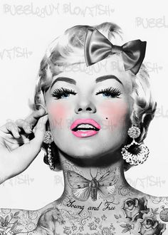 Tattooed Marilyn Monroe  by Dcakes1, via Flickr
