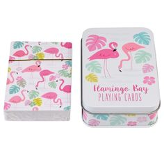 Flamingo Bay Playing Cards In A Tin