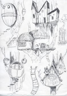 Bryan Sims: Creative Perspective Part 1 Treehouse Thumbnails
