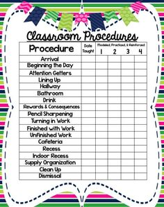 One of TpT's 10 FREE DOWNLOADS! FREE & EDITABLE Procedures Planner & Organizers!