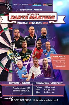 Scarlets Darts Masters 2016 - EventsnWales, The record breaking, history making, 16 times Champion of the World, Phil 'The Power' Taylor is set to make .....