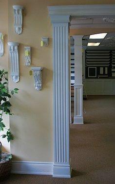 Fluted Square Interior Column | Interior Columns | Pinterest