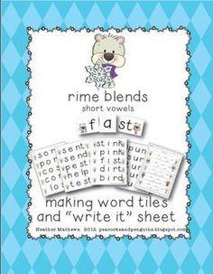 Consonant Blends - Winter Making Words Activities