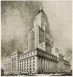 Historical Designs / Utopias / Monuments - Never built - SkyscraperCity Eatons - College Park, TORONTO | 669 ft | 204 m