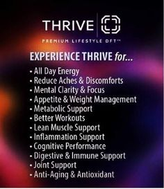 Don't just live... THRIVE  CONTACT ME TODAY!!!