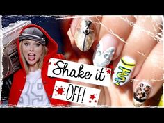 Taylor Swift - Shake it Off! Inspired Nail Art  #nails #nailart #taylorswift #shakeitoff #shakeitoffnails