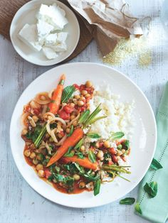 Jarní zelenina v aromatické úpravě Thai Red Curry, Feta, Ethnic Recipes