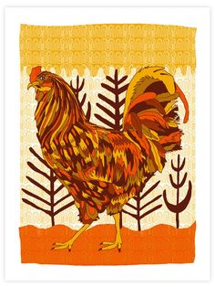 I want these as placemats!! My kitchen is all roosters.