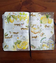 I went ahead and drew out the second week of May. I chose something a bit simpler to draw this time: lemons! : bulletjournal