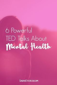 6 Powerful TED Talks about Mental Health   I'm so glad to see that mental health is getting talked about more and more lately. Especially when it comes to anxiety and depression, something more people suffer from than we talk about. These powerful TED Talks speak the truth about depression and mental health and provide a host of inspiration and tools for moving forward.