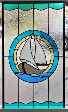 Stained glass windows, mosaics and gifts with a nautical theme Glass Painting Patterns, Stained Glass Patterns Free, Stained Glass Designs, Stained Glass Projects, Stained Glass Door, Stained Glass Ornaments, Stained Glass Birds, Stained Glass Panels, Fused Glass