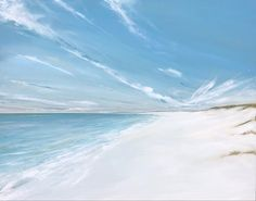 Jane Skingley, Far and Wide, oil painting on canvas, 80x100cm Seascape Paintings, Oil Painting On Canvas, Impressionist, Still Life, Landscapes, Waves, Sky, Beach, Artwork