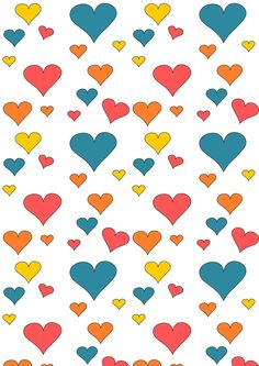 Today I created a free digital heart pattern paper for you. Therefore I've drawn some hearts in different sizes and colored them. Thi...