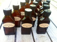Vanilla Extract Wedding Favors-- Perfect for a tropical theme.