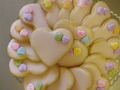 Valentine cookies with sugar hearts