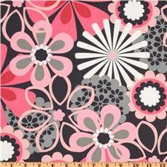Michael Miller Contemporary Florals Flower Shower Petal Pink - Discount Designer Fabric - Fabric.com