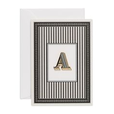 Letter A luxury enamel pin badge card, complete with card by Chase and Wonder