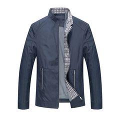 Sólo €34.35 , compra Casual negocio stand cuello cremallera resorte otoño puro color hombres breve chaqueta abrigo en Banggood.com. Comprar moda Abrigos en línea.