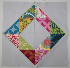 Quilt block -- triangles into an on-point square