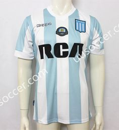 2017-18 Racing Club de Avellaneda Blue and White Thailand Soccer Jersey AAA