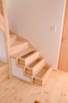 The stairs in the storage house: D Home Room Design, Dream Home Design, Home Interior Design, House Design, Interior Decorating, Staircase Storage, Stair Storage, Staircase Design, House Rooms