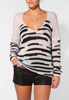 Daryl K X UO Animal Tunic Sweater